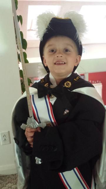 Boy in regalia